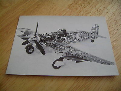 Model Of Hawker Typhoon Mark 1B Imperial War Museum Postcard