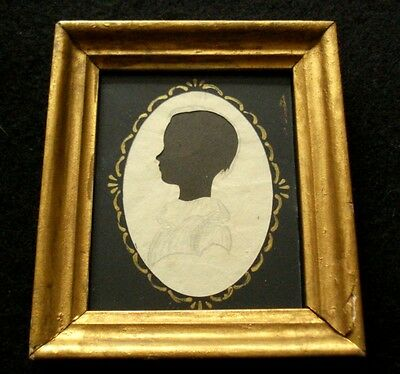 Ca.1825 American Hollow-Cut Antique Silhouette Lovely Child