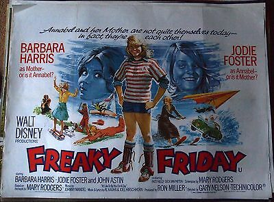 Freaky Friday  -   Jodie Foster   -   original UK quad poster