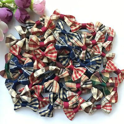 50PCS/lot British style handmade Dog Puppy cat Pet small Bow dogs small hairpin