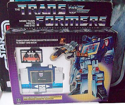 Transformers G1 1984 Soundwave Pre Rub Boxed Complete w Unused Contents & Extras