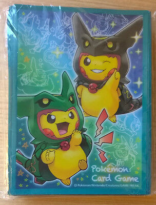 Pokemon Sleeves - Pikachu Mega Rayquaza Cosplay OVP/Sealed! 64 Pieces