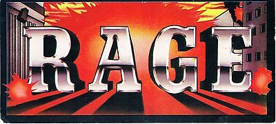 RAGE Rave Flyer Flyers A6 31/8/89 Heaven London WC2 Extremely Rare