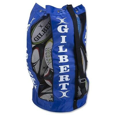 Clearance Line New Gilbert Rugby Breathable Ball Bag Royal