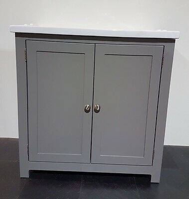 Traditional Bathroom Vanity Unit Cabinet with Ceramic sink Basin 80cm  Painted
