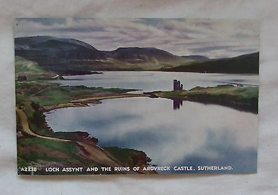 Vintage J.B.White 'The Best Of All Series' POSTCARD, LOCH ASSYNY ARDVRECK CASTLE