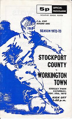 Stockport County v Workington Town FA Cup 1st Round 1972/73