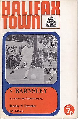 Halifax Town v Barnsley FA Cup 1st Round Replay 1972/73