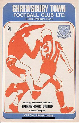 Shrewsbury Town v Spennymoor United FA Cup 1st Round Replay 1972/73