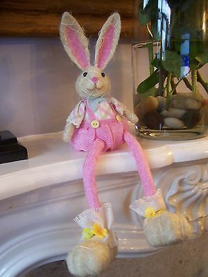 Gisela Graham Easter Bunny Shelf Sitter Easter Decoration BNWT