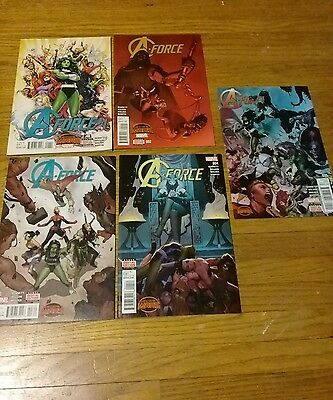 marvel comics a-force full run lot 1-5 1, 2, 3, 4, 5 with digital codes