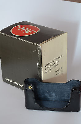 Original Leica half case only 14569 and box for R4 and R5