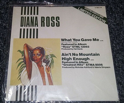 """DIANA ROSS what you gave me 12 TMG 1135 uk motown 1978 12"""" PS EX/EX"""