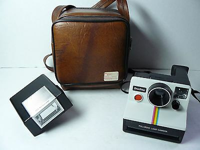 Polaroid Camera One Step SX-70 Land Camera Rainbow Stripe with Flash and Case