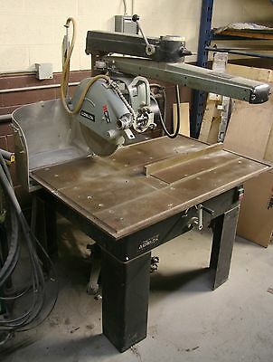 """Delta Radial Arm saw 18"""" blade w 2 spare blades model 33-421 water cool cutting"""