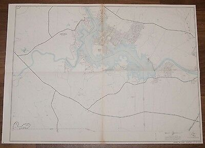 """Burnet & Llano Counties Texas 1971 vintage map county map highway map 18""""x25"""" #2"""