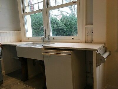 granite worktop with double belfast sink