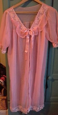 vintage retro 1960s sheer nylon dressing gown