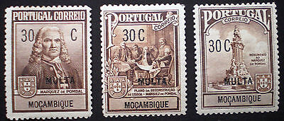Mozambique Portugal 1925 MH Charity issue set