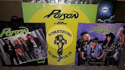 "poison 10"" coloured vinyl single and 7"" singles"