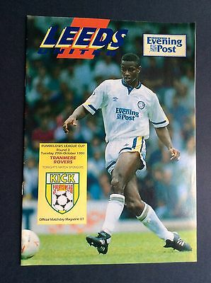 Leeds United v Tranmere Rovers League Cup 1991