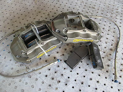 Nascar Ap 4 Piston Rear Calipers Cp 5510 - 14Sol/15Sol With New Pads N Lines