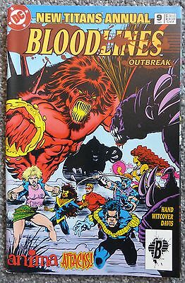 New Titans Annual: Bloodlines #9 (DC Comics, 1993) VF