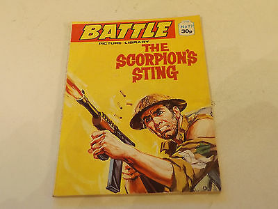 BATTLE PICTURE LIBRARY NO 77,1980`S! ISSUE,GOOD FOR AGE,VERY RARE,30 yrs old.