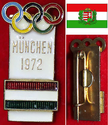 Olympia Xx Olympic Games München 1972 Abzeichen Participant Team Ungarn Hungary