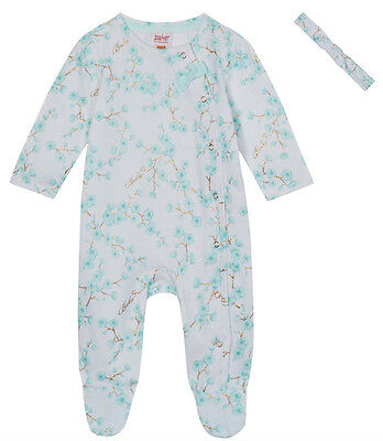 New Ted Baker Baby Girls Cherry Blossom Floral Romper Sleepsuit Set 6-9 Months