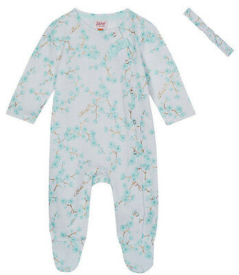 New Ted Baker Baby Girls Cherry Blossom Floral Romper Sleepsuit Set 9-12 Months