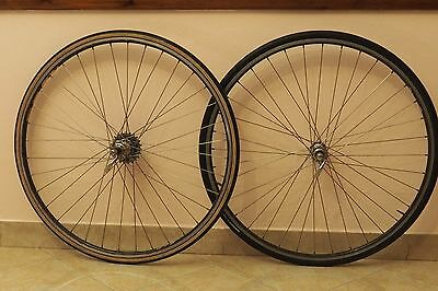 Wheels Ruote Campagnolo C-Record Fir Vintage Cassetta Bike Old Style