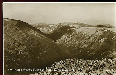 The Largig Ghru & Cairn Gorm from Cairn Toul. Valentine Real Photograph Postcard