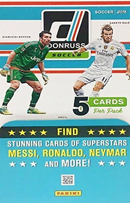 2016 Donruss Soccer Factory Sealed Box of 36 Packs - 180 Cards!