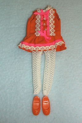 Vintage Mattel Tutti Angie Pretty Pairs Doll Dress Stockings & Shoes Displayable