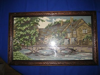 Embroidered Tapestry Framed  Picture