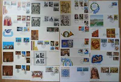 Greece..1981-85 Lot Of 25 Different Fdc..lot