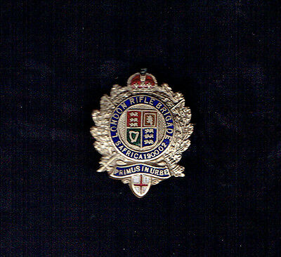 Old Military Enamel Badge,, London Rifle Brigade South Africa 1900-02