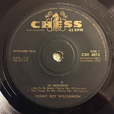 EP sonny boy williamson in memoriam chess 1966 blues