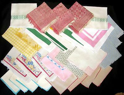 Lot of 30 Vintage Cloth Napkins - Sets & One of a Kind