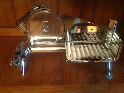 Vintage Rival Food/meat Slicer W/electr-O-Matic Motor Chrome Finish-Very Nice