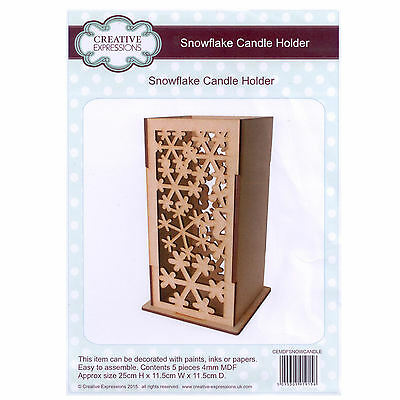 Creative Expressions MDF - Festive Collection - Snowflake Candle Holder