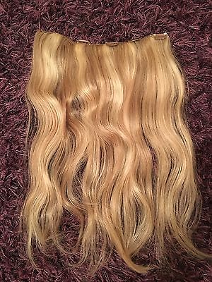 Blonde Remi Human Hair Extensions With Clips P18/613 Blonde Mix  20 Inch