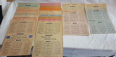 Lot Of 21 Vintage Old 1947 - 1950 Paper Movie Theather Show Programs