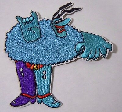 """BLUE MEANIE - Beatles Yellow Submarine - Embroidered Iron-On Patch - 4"""""""
