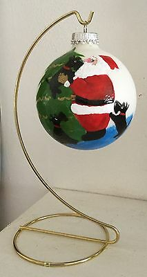 Collectible Scottish Terrier Holiday Ornament /w hanger hand painted