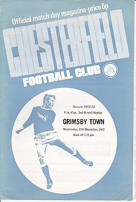 Chesterfield v Grimsby Town FA Cup 2nd Round Replay 1972/73