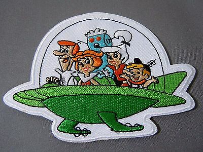 "THE JETSONS Family Embroidered Iron-On Patch - 3.75"" -  High Quality"