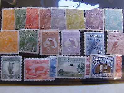 Australia Collection Of Early Mint Issues.