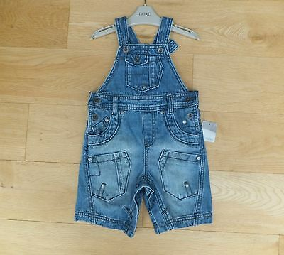 NEW - NEXT *** 12-18m BOYS Fabulous DENIM SUMMER DUNGAREE AGE 12 - 18 MONTHS